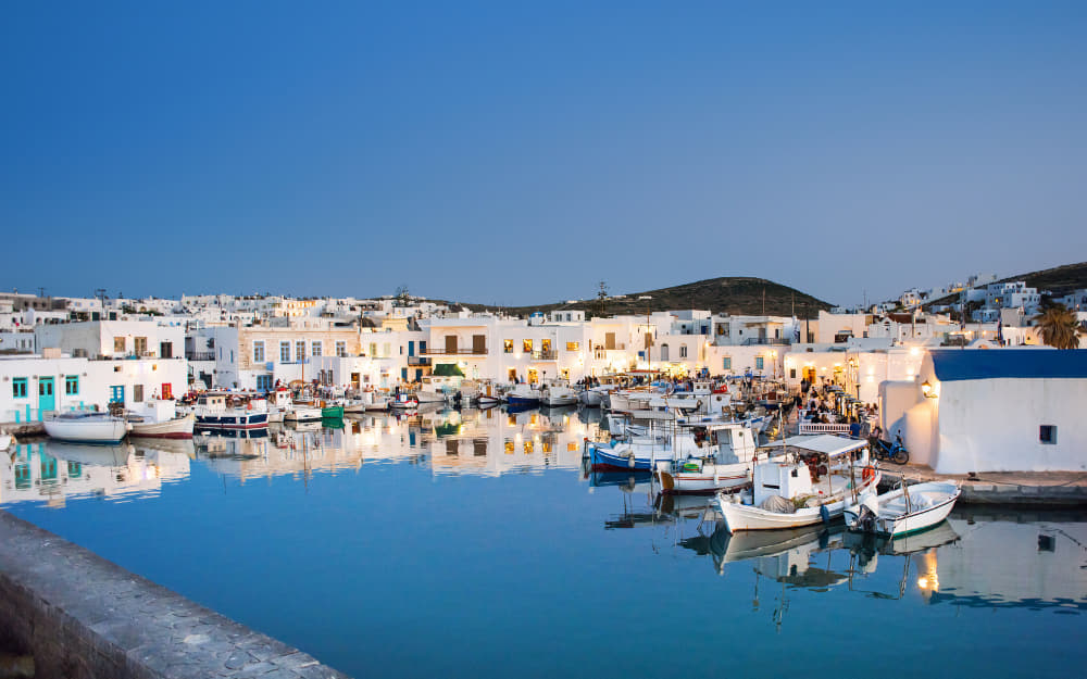 Paros at night © Image Courtesy of Poike from Getty Images by Canva