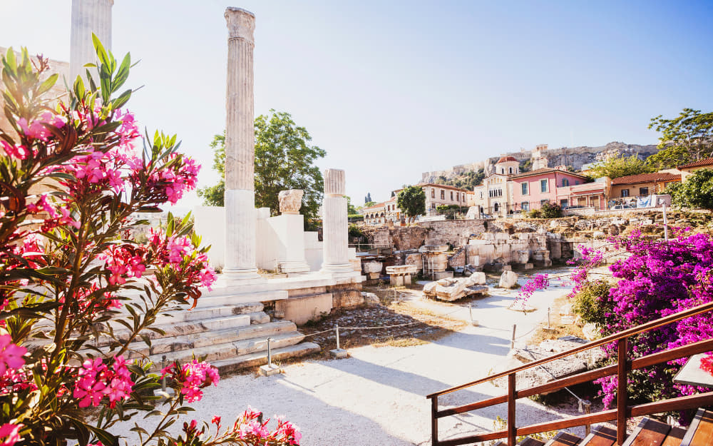 Plaka in Athens © Image Courtesy of Poike from Getty Images by Canva