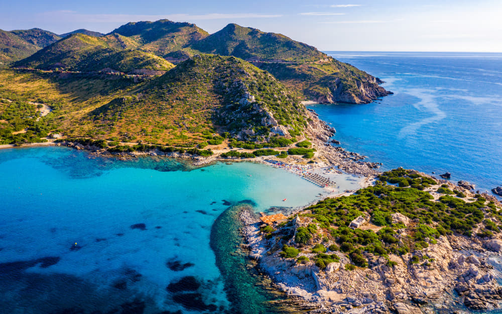 Punta Molentis Beach in Sardinia © Photo by DaLiu from Getty Images by Canva