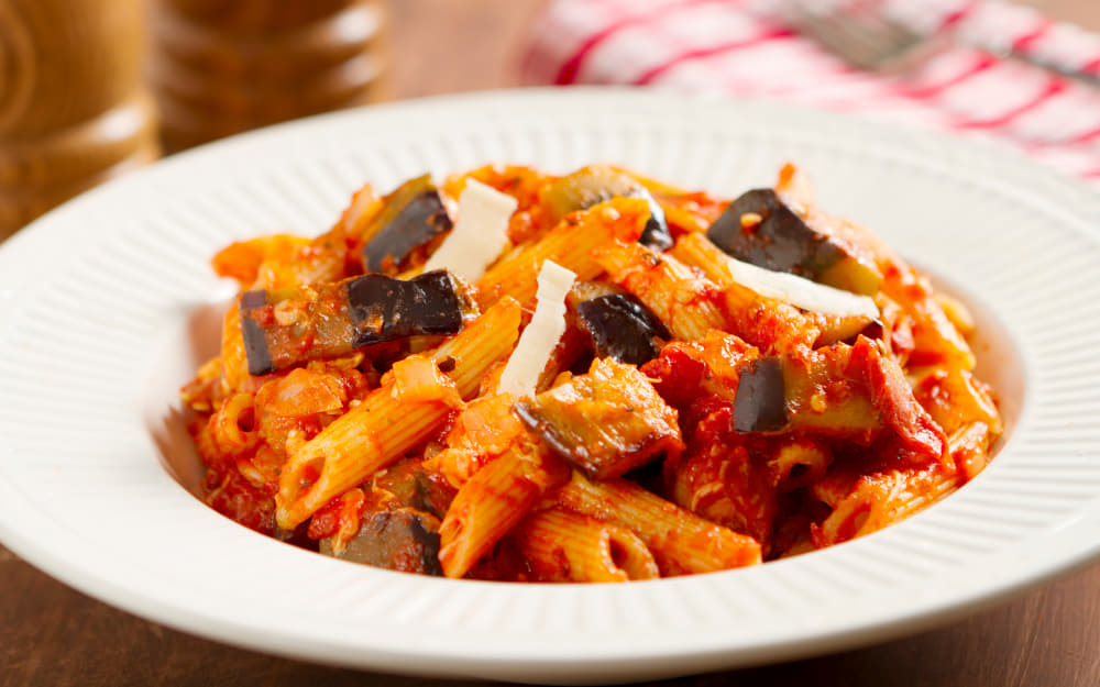 Pasta alla Norma © Image Courtesy of boblin from Getty Images Signature by Canva